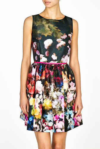 Red Valentino Multi Floral Print Prom Dress