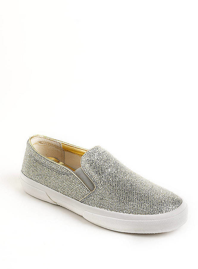 For ladies who have always found sneakers lacking in the glam department, Michael Michael Kors does a version in glittery silver ($55, originally $110).