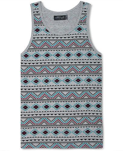 Retrofit T-Shirt, Tribal Print Tank Top