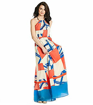 Jessica Simpson Necklace Halter Maxi Dress