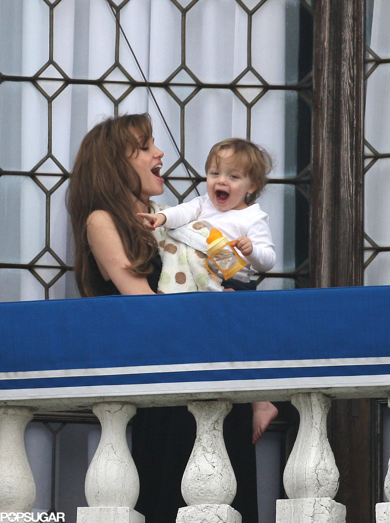In March 2010, Knox Jolie-Pitt was all about balcony time with Angelina during her breaks from filming The Tourist in Venice.