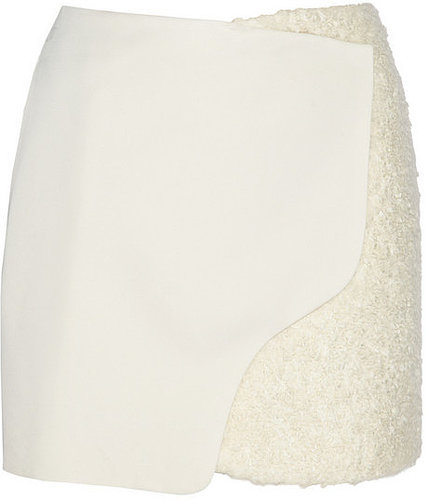 Maiyet Wool and shearling-effect wrap skirt