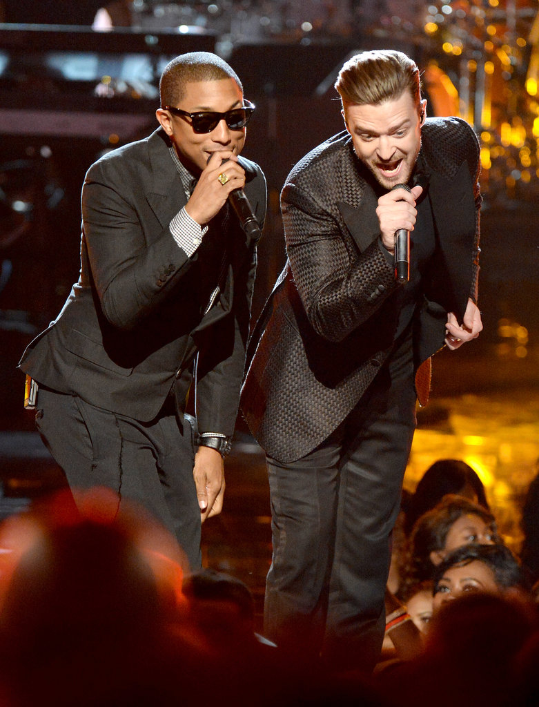Justin Timberlake teamed up with pal Pharrell Williams and Snoop Lion to pay tribute to musician Charlie Wilson with a special performance at the 2013 BET Awards in June 2013.