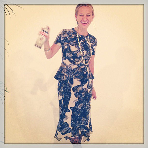 Jennifer Meyer shared a photo of her Juan Carlos Obando dress to congratulate the designer on his CFDA/Vogue Fund nomination. Source: Instagram user jenmeyerjewelry