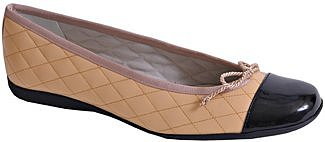 French Sole - PassportR - Ballet Flat in Camel