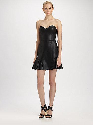 ERIN by Erin Fetherston Faux Leather Bustier Dress