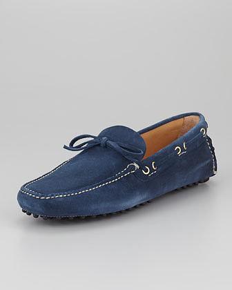 Car Shoe Classic Suede Driver, Blue