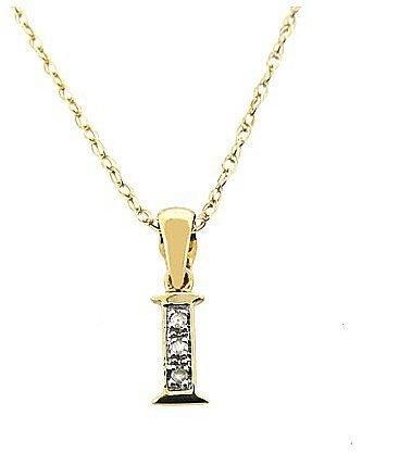 9ct Yellow Gold Diamond Initial Pendant