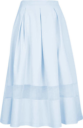 Tall Organza Midi Skirt