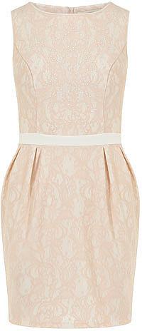 Petite blush stud dress