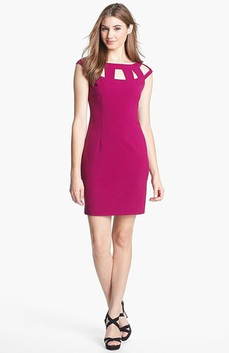 Marc New York by Andrew Marc Cutout Cap Sleeve Sheath Dress