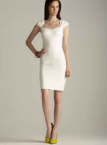 Marc New York Princess Seams Structured Cap Sleeve Dress