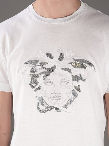 Versace sequined medusa t-shirt