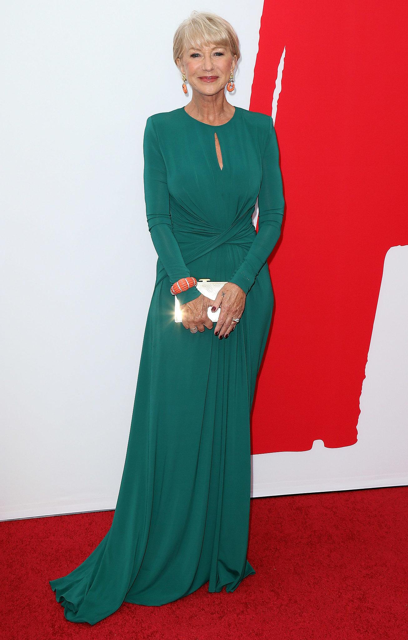 Helen Mirren wore a green number.