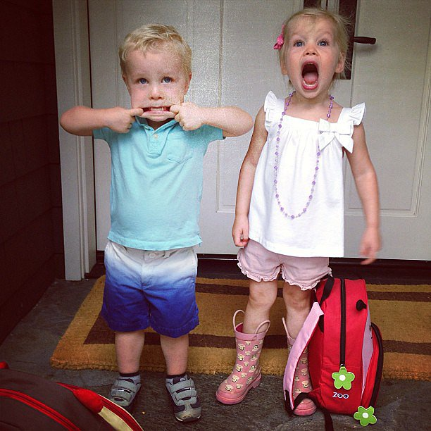 Harper and Gideon Burtka-Harris got ready for their first day of preschool! Source: Instagram user instagranph