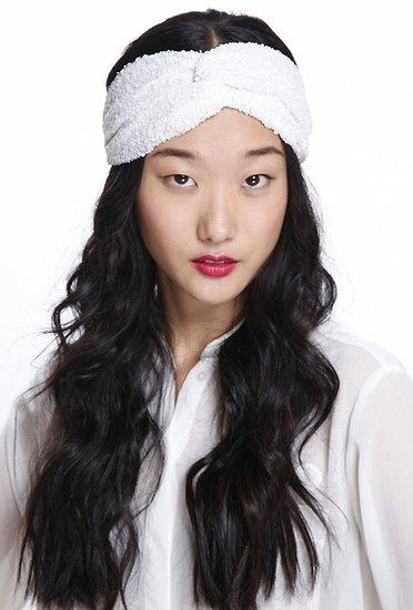 Eugenia Kim Genie by Eugenia Kim Penny Twist Turban Headband in White Lace