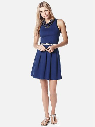 Box-Pleat Ponte Dress