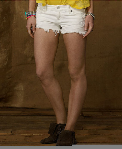 Denim & Supply Ralph Lauren Shorts, Denim Cutoffs, White Wash