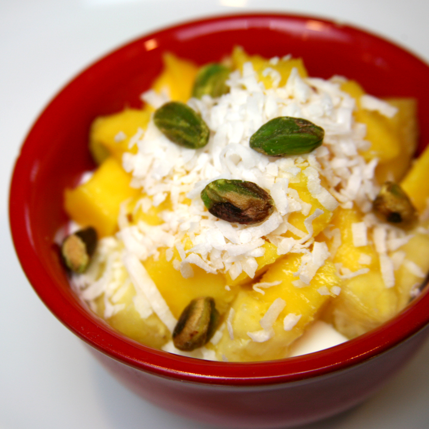 Pineapple Coconut Mousse With Pistachios Recipe — Dishmaps