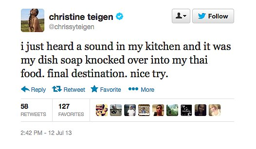 Chrissy Teigen's too smart for that ambitious dish soap.