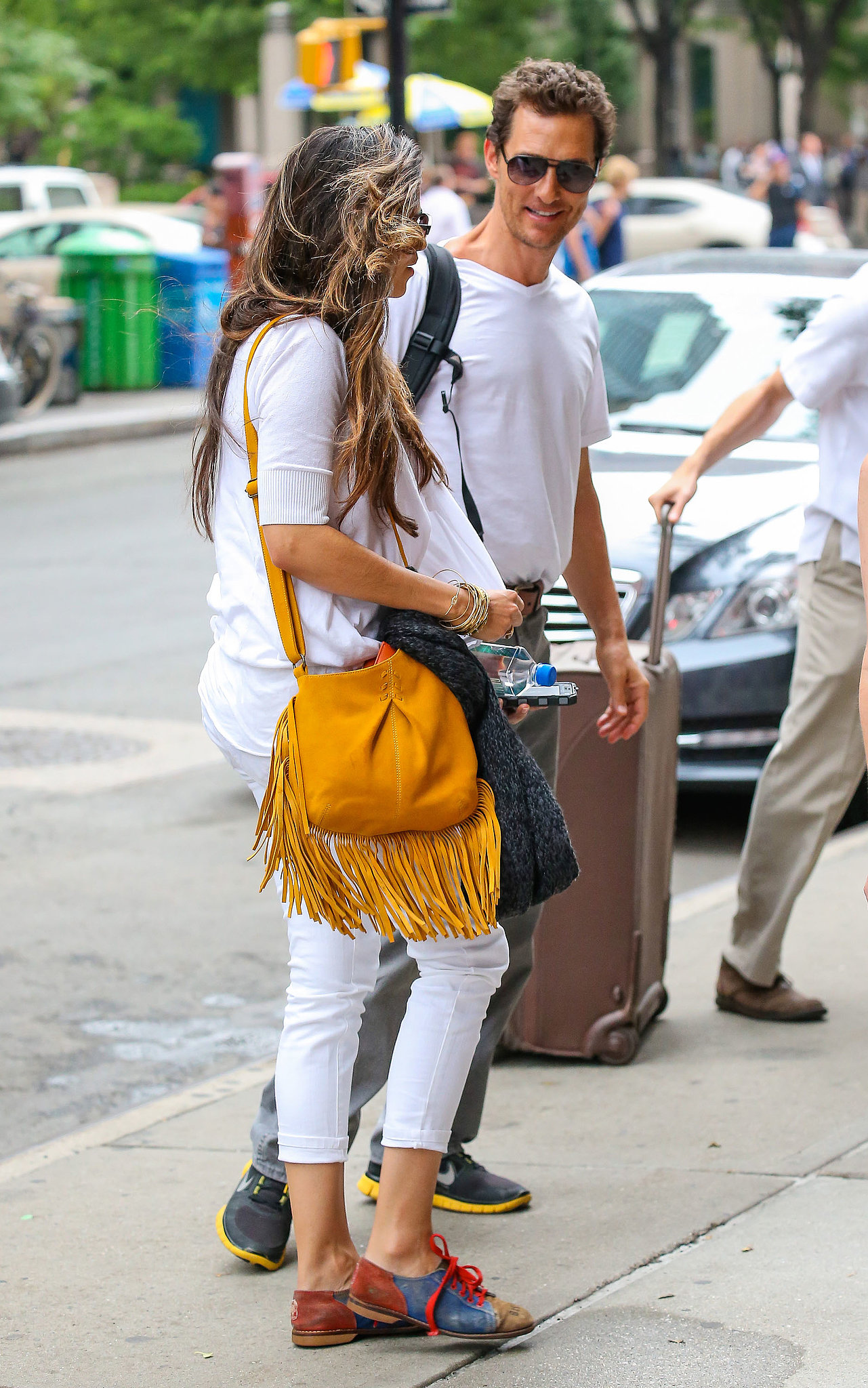 Matthew and Camila Pop Up in NYC Following a Big Day For Levi