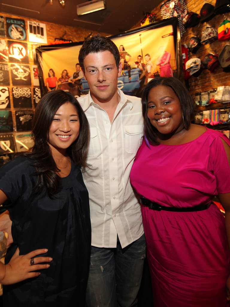 Cory Monteith, Amber Riley, and Jenna Ushkowitz attended an August 2009 Gleek Tour event in Chicago.