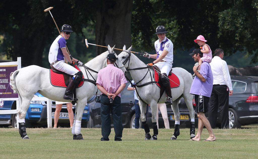 Harry and William Join Forces on the Field, While Kate Leaves London