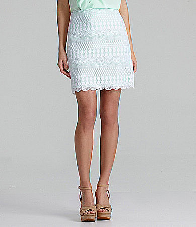Gianni Bini Linda Lace Pencil Skirt