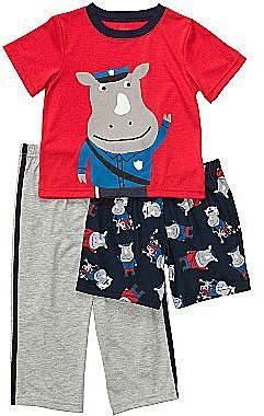 Carter's® 3-pc. Police Rhino Pajamas - Boys 12m-24m