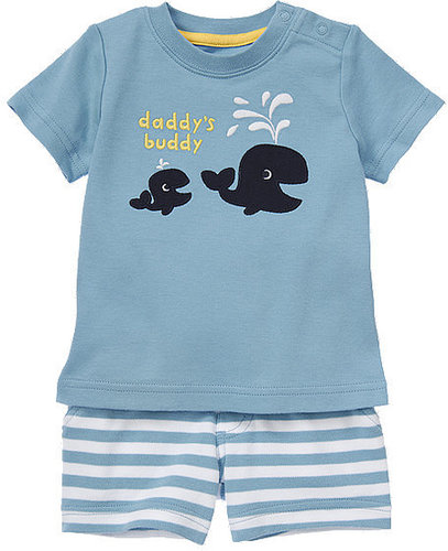 Daddy's Buddy Whale Two-Piece Set
