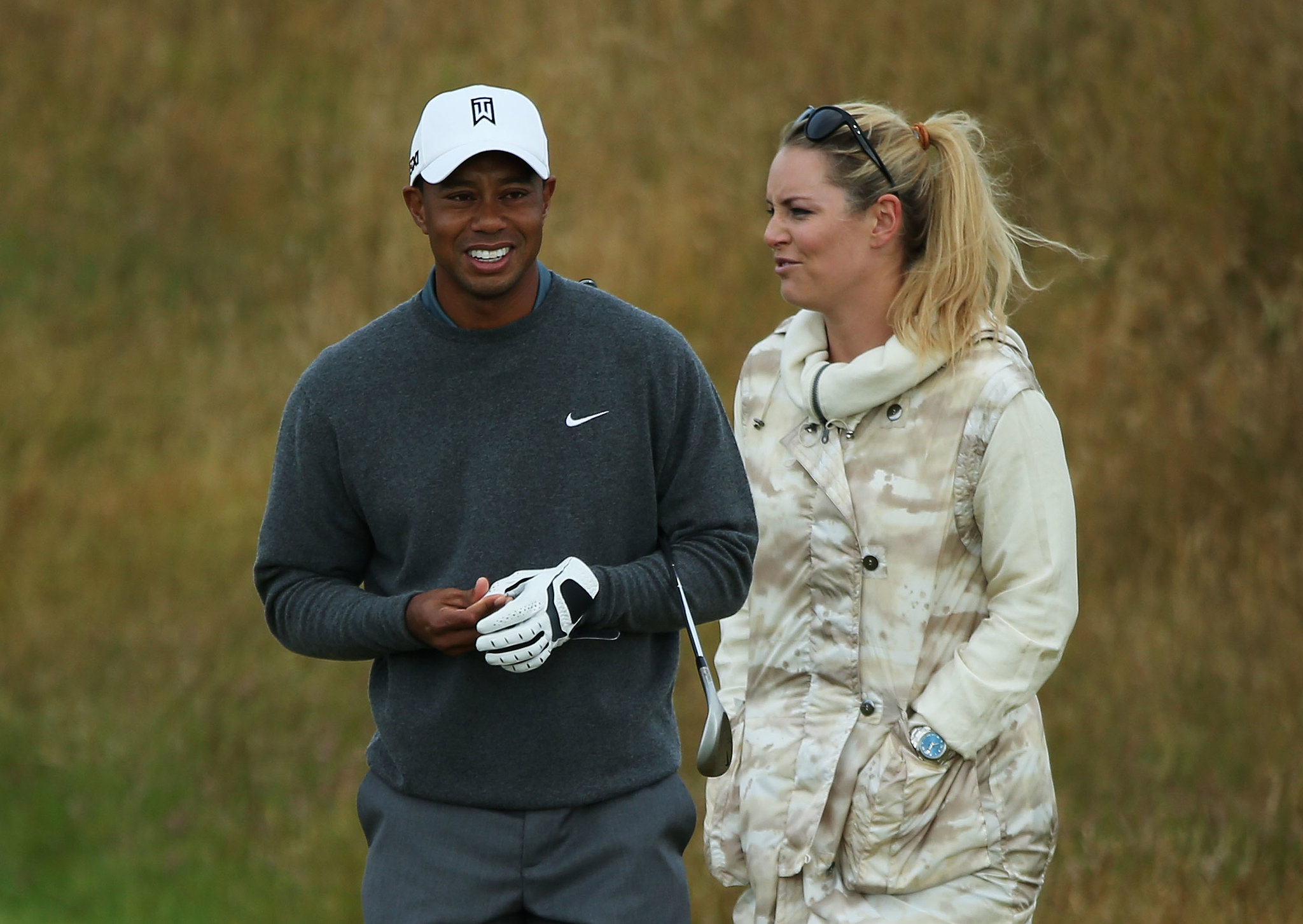 Tiger Woods and Lindsey Vonn spent time together ahead of the 142nd British Open Championship in Gullane, Scotland.