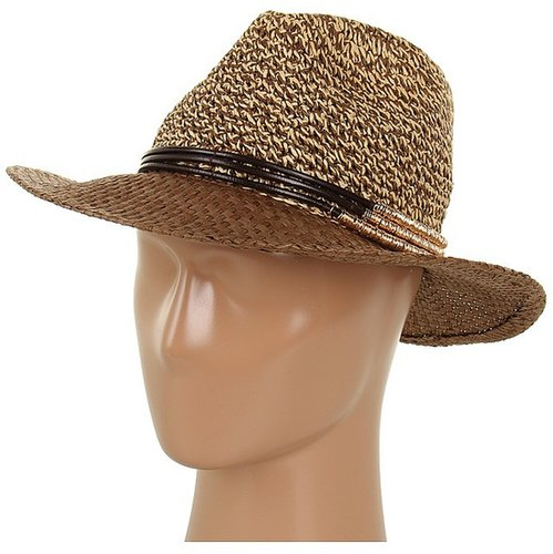 Jessica Simpson - Tweeded Panama w/ Metal Rings (Sable) - Hats