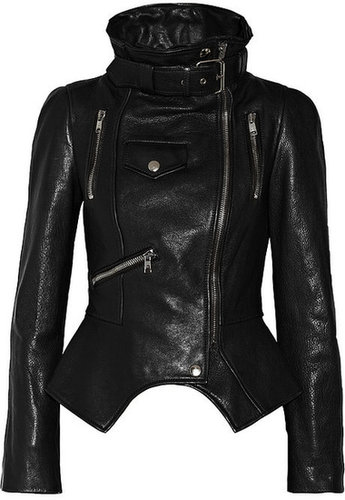 Alexander McQueen Textured-leather biker jacket