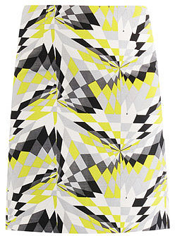 Tibi Isosceles print pencil skirt