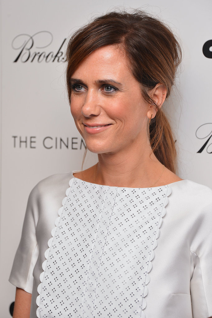Kristen Wiig's Texturised Ponytail at Girl Most Likely NY ...