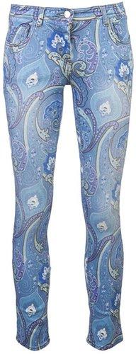 Etro Print skinny jean