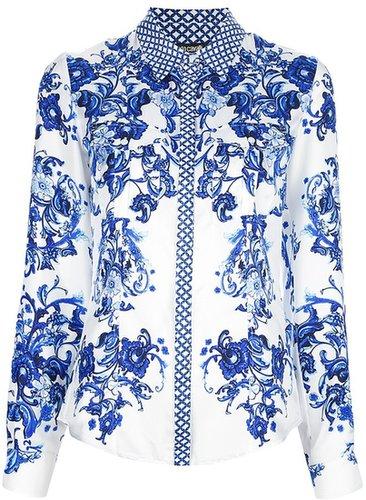 Roberto Cavalli floral silk shirt