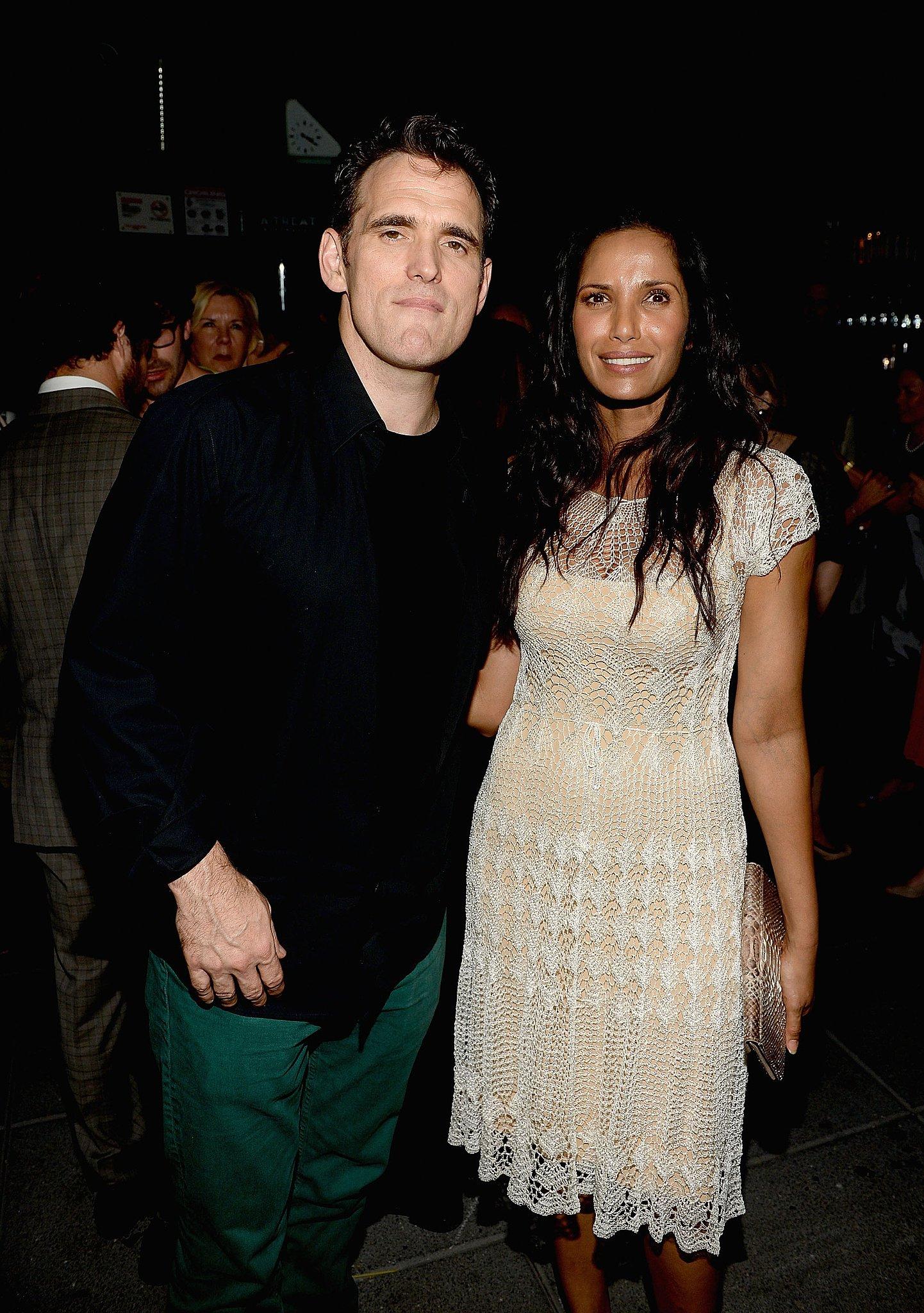 Matt Dillon mingled at the afterparty with Padma Lakshmi.