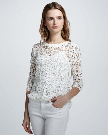 Dolce Vita Abelle Lace-Crochet Sheer Top
