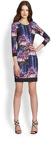 Roberto Cavalli Floral-Print Stretch Jersey Dress