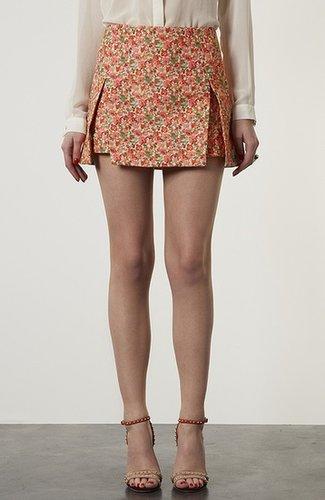 Topshop Floral Origami Skirt