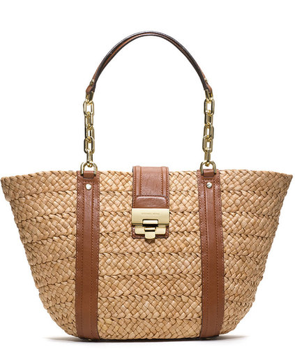 Michael Kors Large Deneuve Straw Tote