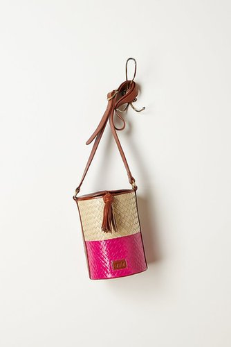 Plaited Straw Barrel Bag
