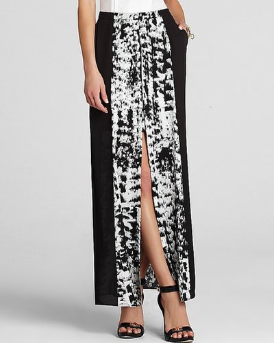 BCBGMAXAZRIA Maxi Skirt - Jane Printed Color Block