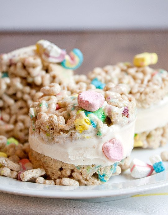 Lucky Charms Ice Cream Sandwiches