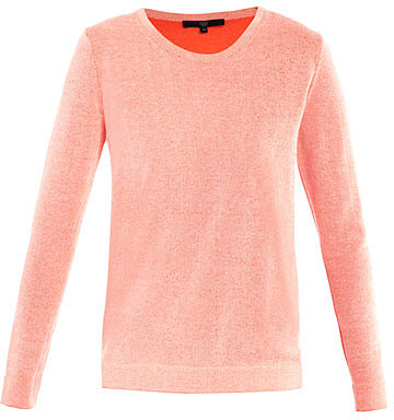 Tibi Reversible neon sweater