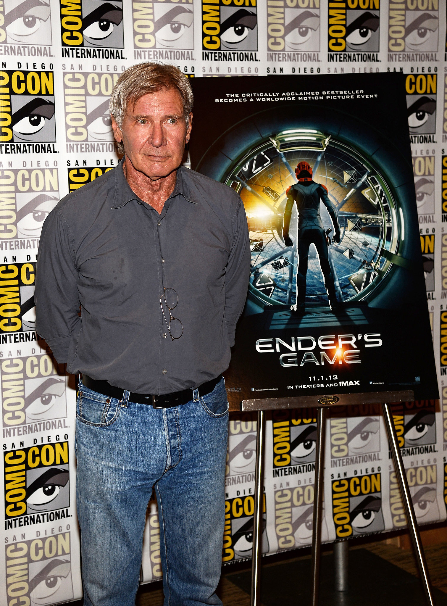 Harrison Ford attended the Ender's Game and Divergent press line.