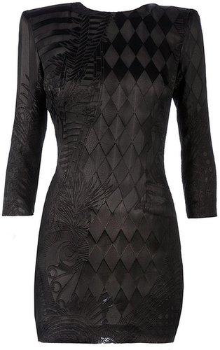 Balmain embroidered bodycon dress