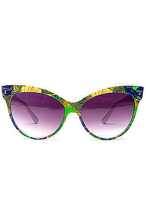 Go on an instant vacation with Miss Karma Loop's tropical-framed shades ($10).