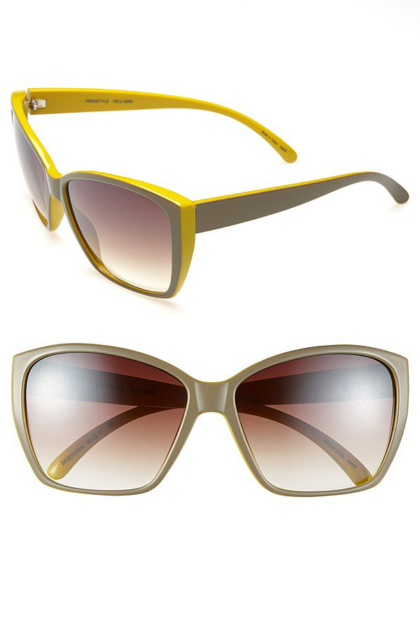 We love a stylish surprise, like the bright yellow rims of these Outlook Eyewear sunglasses ($38).